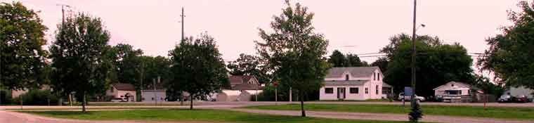 A view of the village of Alberton as seen looking south from the Albrton Church parking lot.